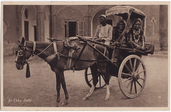 Women in an Ekka Carriage - Delhi