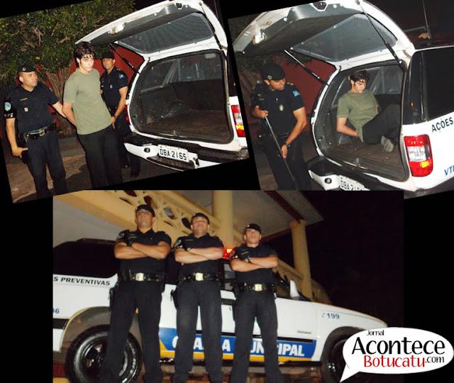 GCM de Botucatu através do GAPE prende foragido de Justiça de Mato Grosso do Sul