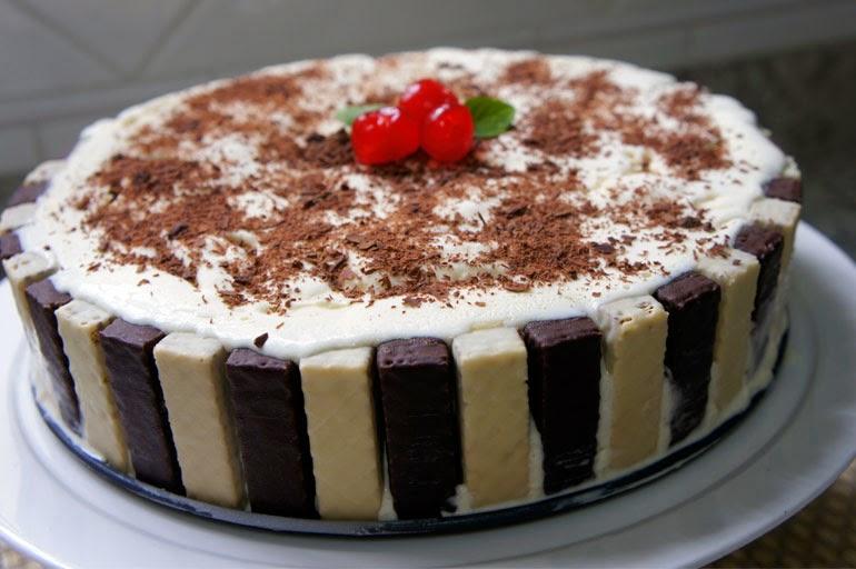 #receita de #torta de #bis e #sorvete