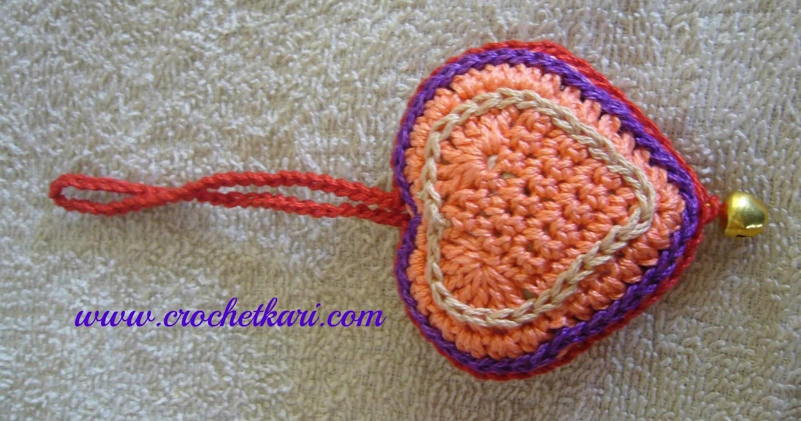 free crochet heart