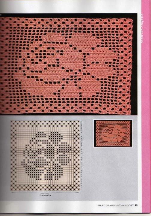 Hobby lavori femminili ricamo uncinetto maglia for Piastrelle uncinetto filet schemi