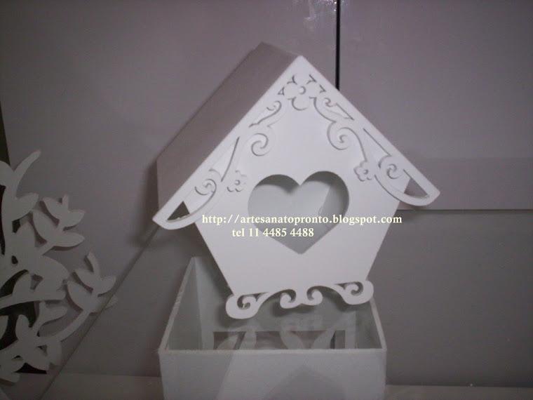 casinha de passarinho decorativa R$ 35,00