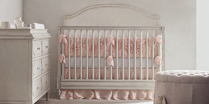 Bellina Conversion Crib Converts To A Toddler Bed With Kit Which Is Sold Separately Offered By RH Baby And Child In Heirloom White