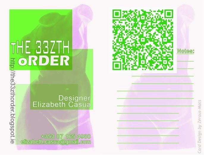 tHE 33ZTH oRDER business card