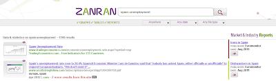 Listado de resultados de Zanran