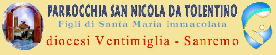 PARROCCHIA S. NICOLA DA TOLENTINO in VENTIMIGLIA