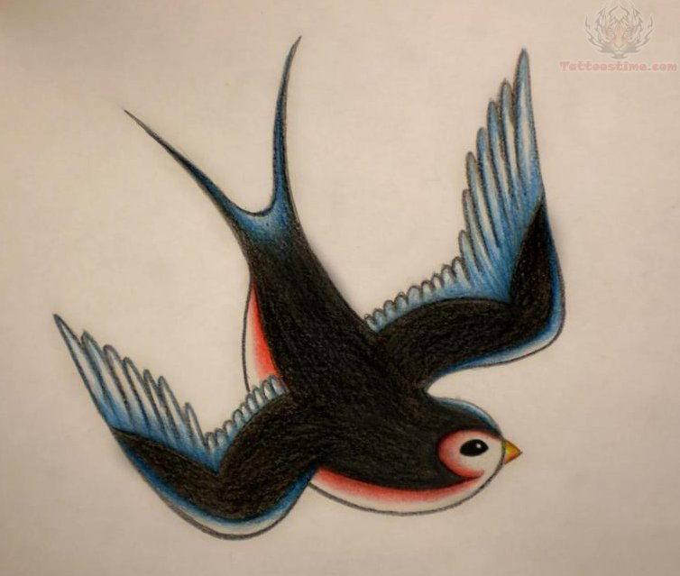 only swallow tattoo old school swallow bird tattoos. Black Bedroom Furniture Sets. Home Design Ideas