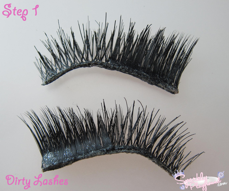 Tutorial How To Clean And Reuse False Eyelashes Sparkly Playground