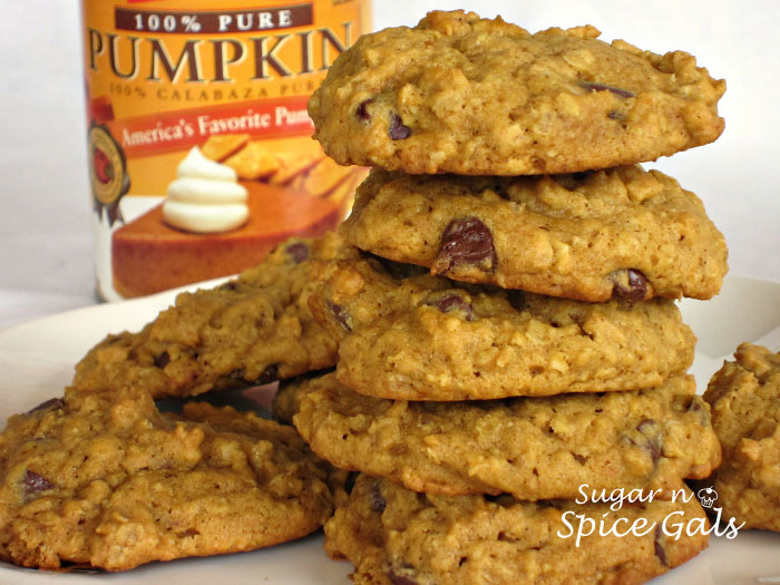Oatmeal Pumpkin Cookies - Sugar n' Spice Gals