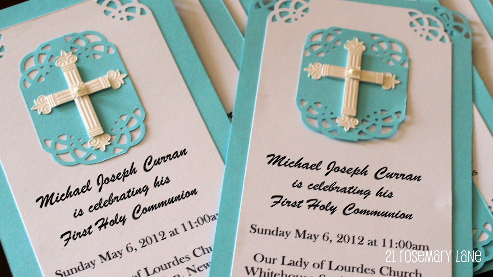 21 rosemary lane handmade first communion invitations with tutorial