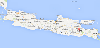 Location of Malang