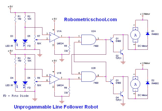 Embedded Systems Projects Ideas besides ment 200526 in addition Simple Line Following Robot Without Microcontroller Robotics moreover YXJkdWluby1saW5lLWZvbGxvd2luZy1yb2JvdC1zY2hlbWF0aWM additionally Line Following Robot Using Avr Atmega8. on line following robotic vehicle using microcontroller