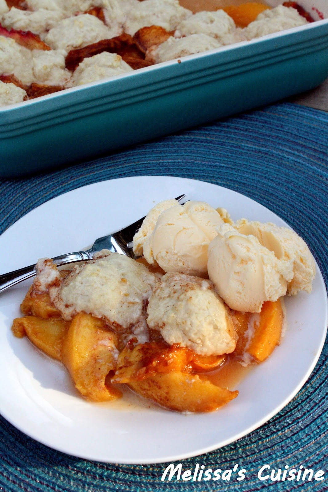 Melissa's Cuisine: Peach Cobbler {Flashback Friday}