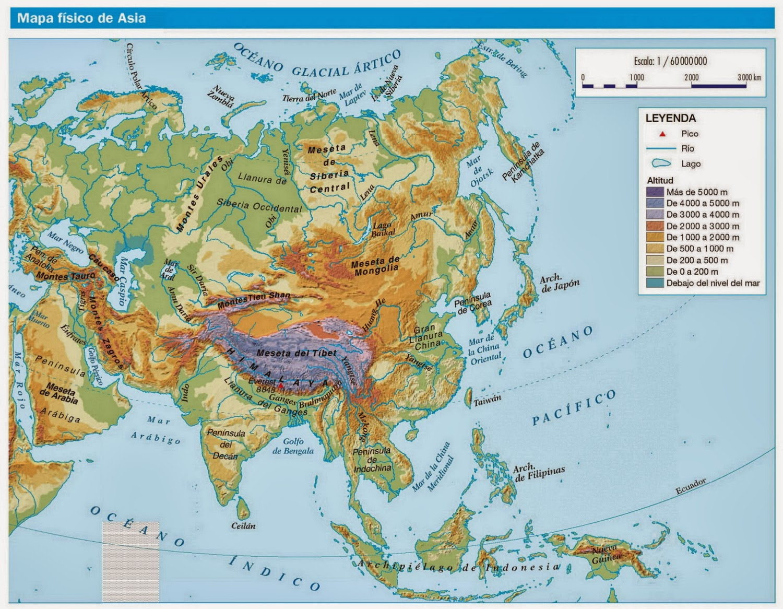 Blog de Sociales 1 ESO  RELIEVE DE ASIA