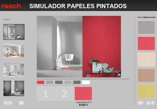Decoraci n y pinturas la pubilla simulador del color y for Simulador decoracion