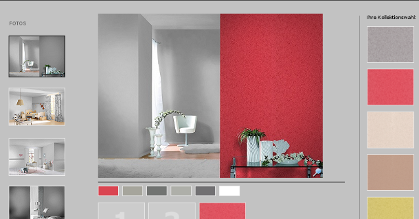 Decoraci n y pinturas la pubilla simulador del color y for Simulador de decoracion