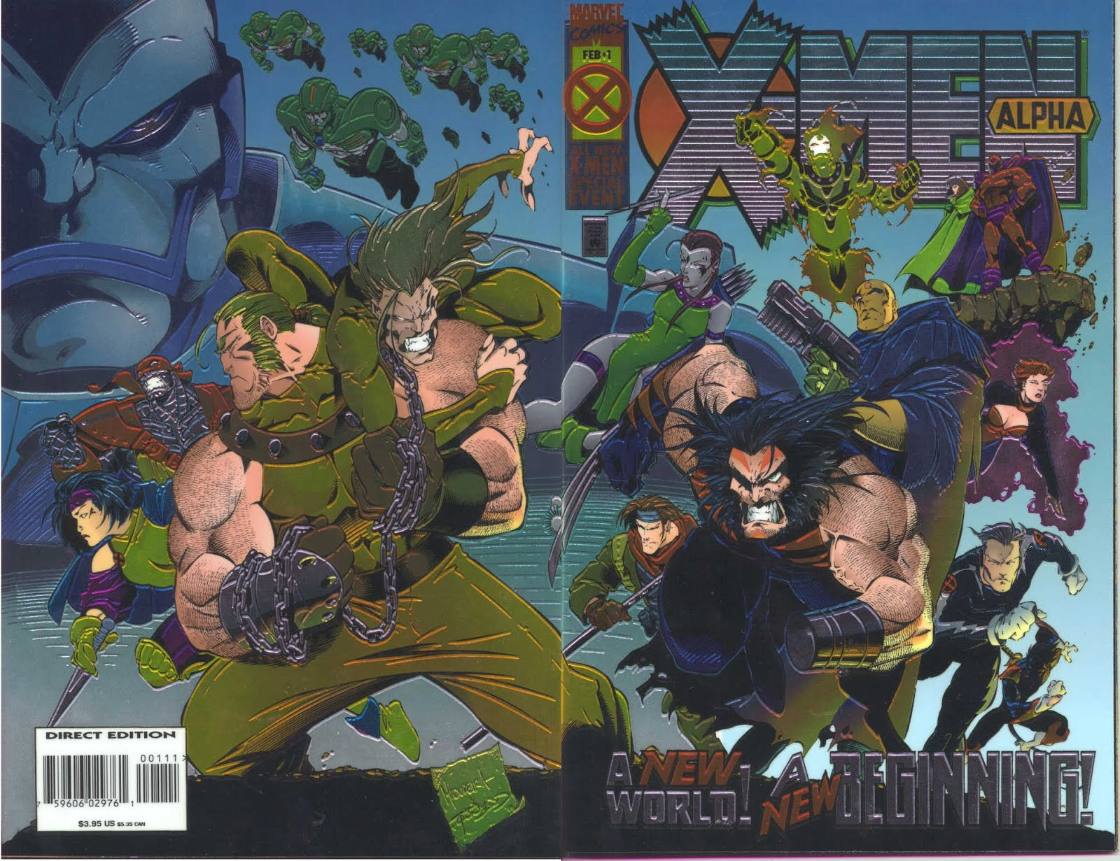 X-MEN ALPHA WRAPAROUND CHROMIUM COVER