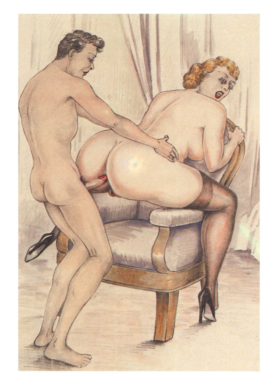 иллюстрации старинные смотреть эротические