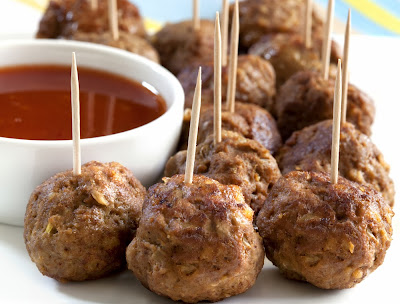 simple and super easy baby shower food ideas, dessert inspirations - meat balls