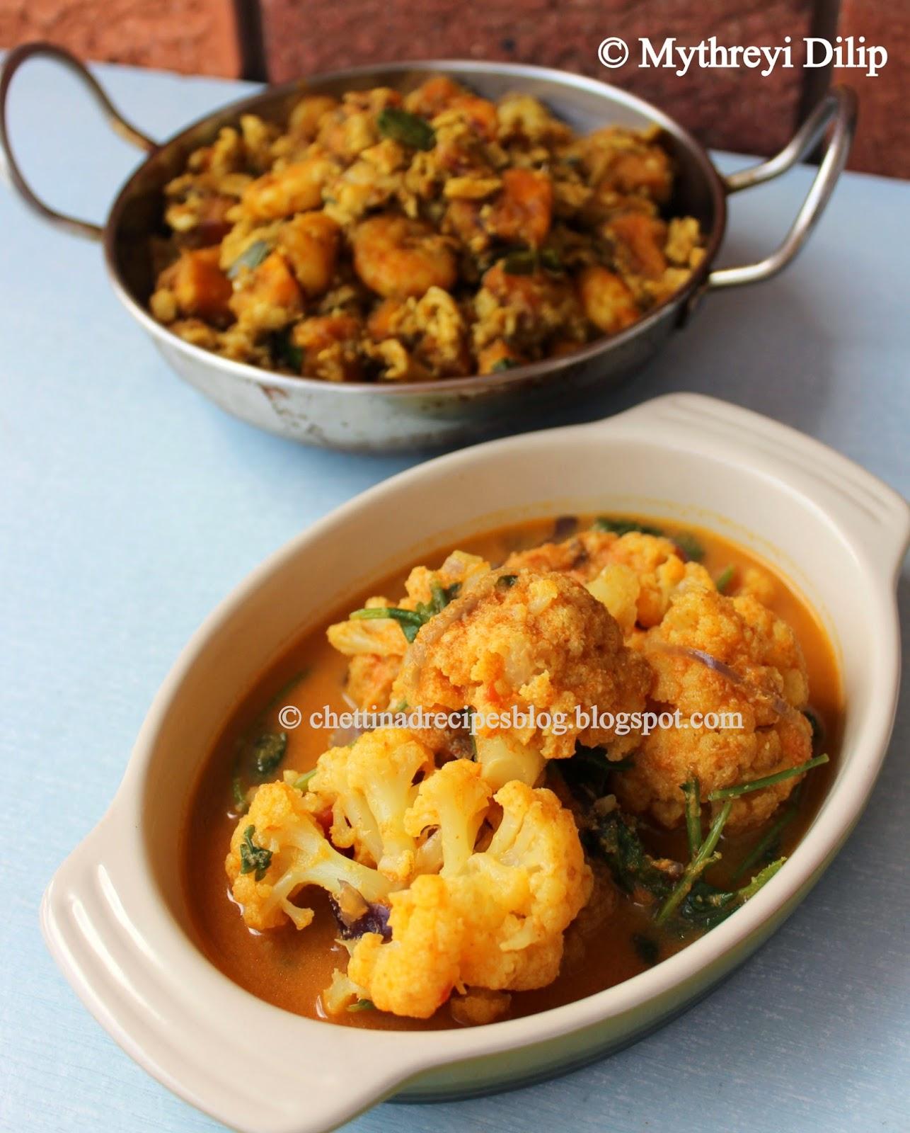 chettinad cauliflower chops / cauliflower kurma