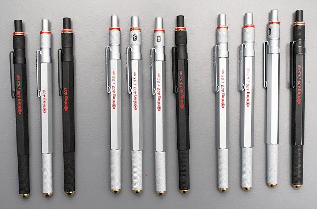 Fine F Nib! Knurled 1 Rotring 600 Fountain Pen ~ Black Finish Brand New