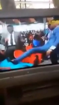 pastor kicking pregnant woman belly