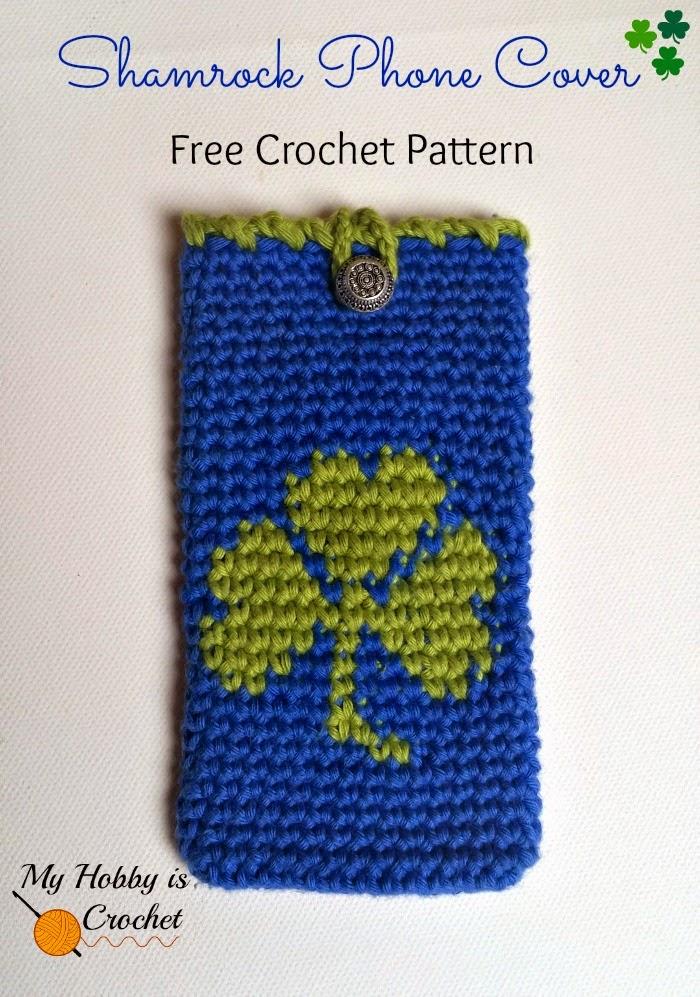My Hobby Is Crochet Tapestry Crochet Shamrock Phone Cover Free