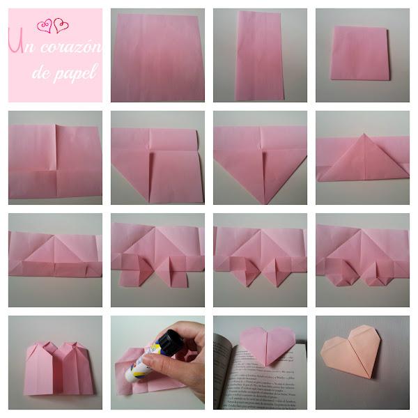 Corazon de papel aprender manualidades es - Como hacer un corazon con fotos ...