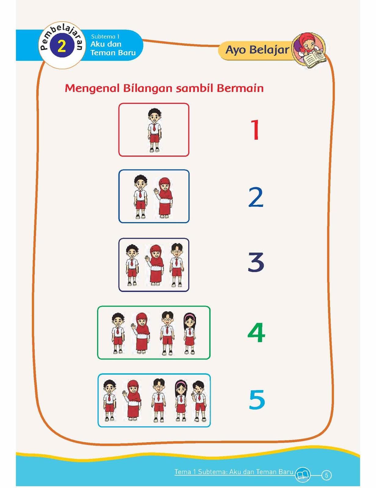 005 - SD Kelas 1 - Tema 1 Diriku - Kurikulum 2013