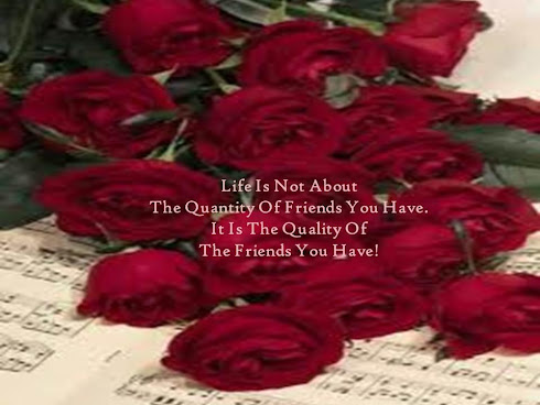 Life is not about the quantity of friends you have.