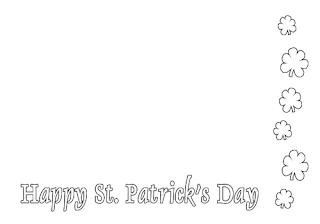 shamrock coloring pages, kids coloring pages