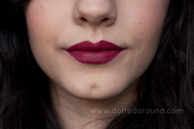 Nars Audrey Audacious lipstick swatch