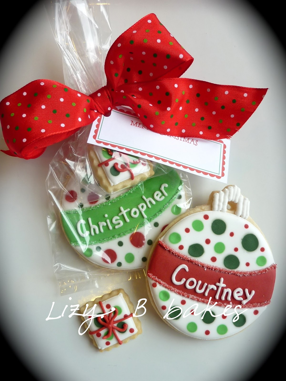 Lizy b personalized christmas cookies for Christmas cookies to make for gifts