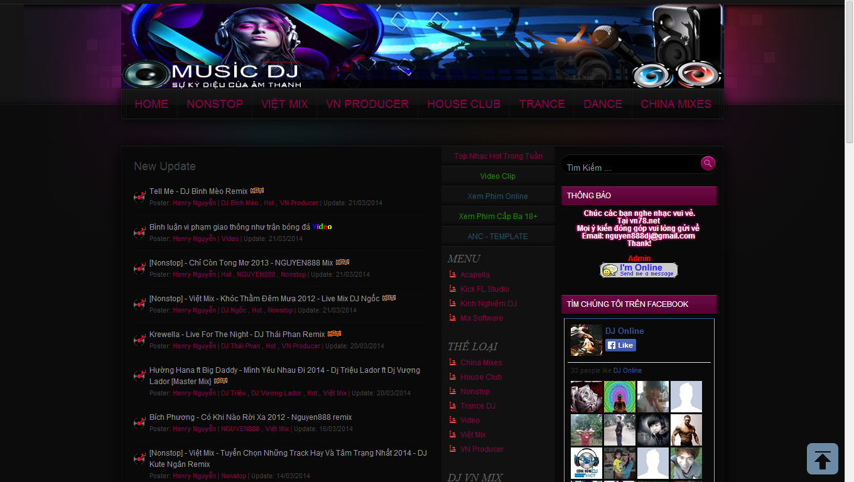 Template Blogspot 2014 làm site nhạc DJ, Nhạc sàn