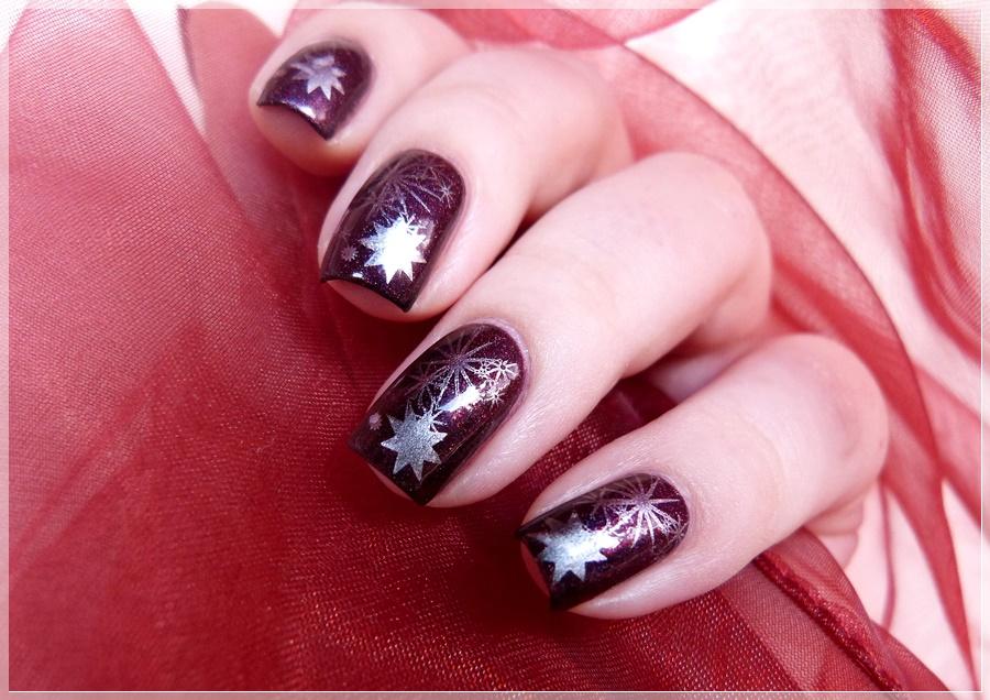 Stars Stamping Nailart