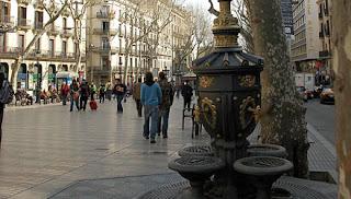 Rambla de Canaletas en Barcelona