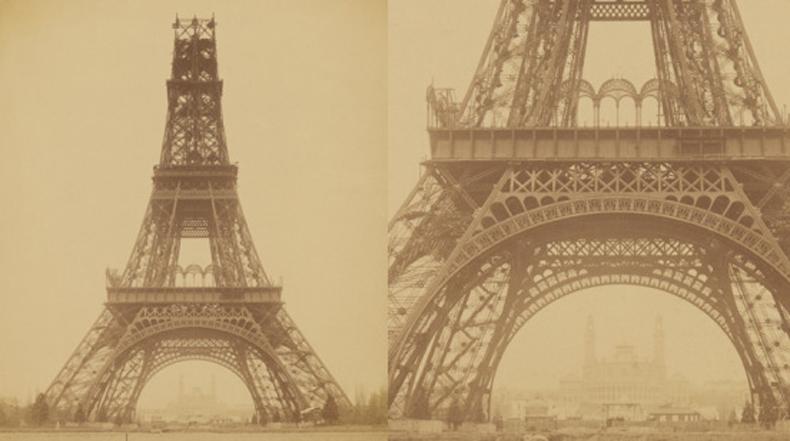 Imagen del día: Construyendo la Torre Eiffel