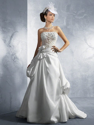 Crystal+Beading+%2526+Sequins+Taffeta+Net+over+Lace+Wedding+Dresses