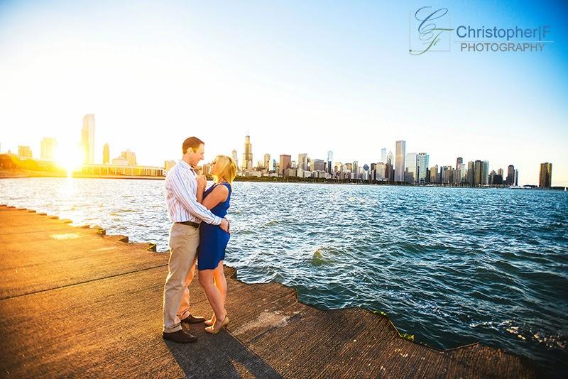 Chicago Sunset Engagement Photo