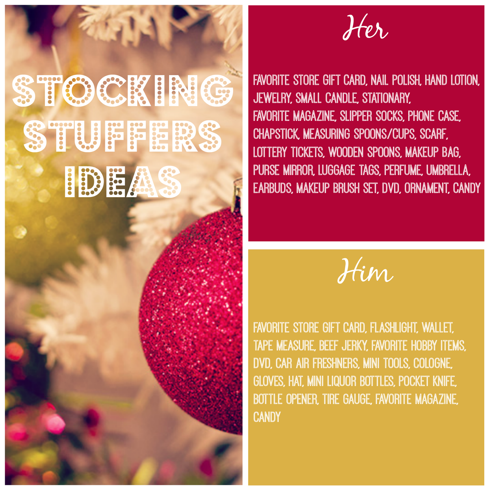 Stocking Stuffer Ideas For Men Women Kids Teens