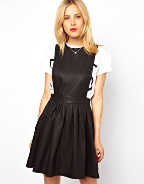 Vestido cabedal Asos, Asos leather dress