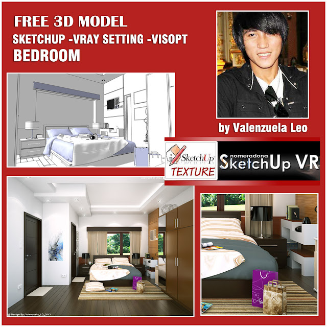 sketchup model - vray 14.9 beedroom  and visopt #3_cover