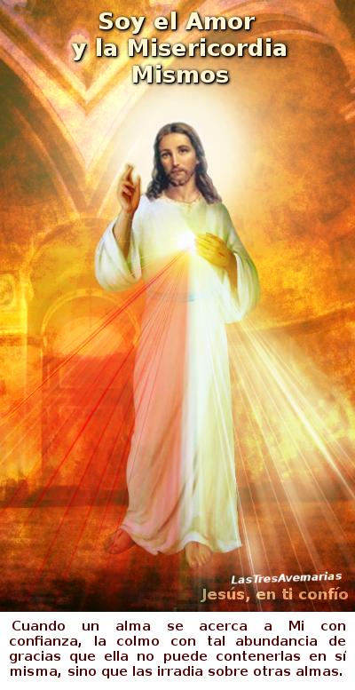 divina misericordia con mensje de amor