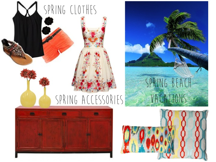 Spring 2015 furniture, accessories and clothing.