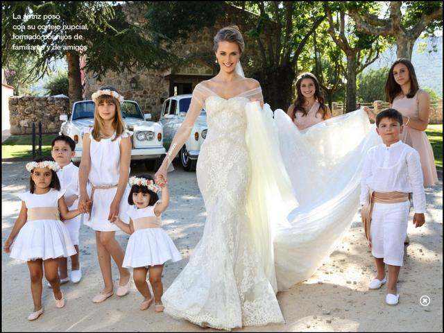 Pajecitos en la boda de Carlos Baute
