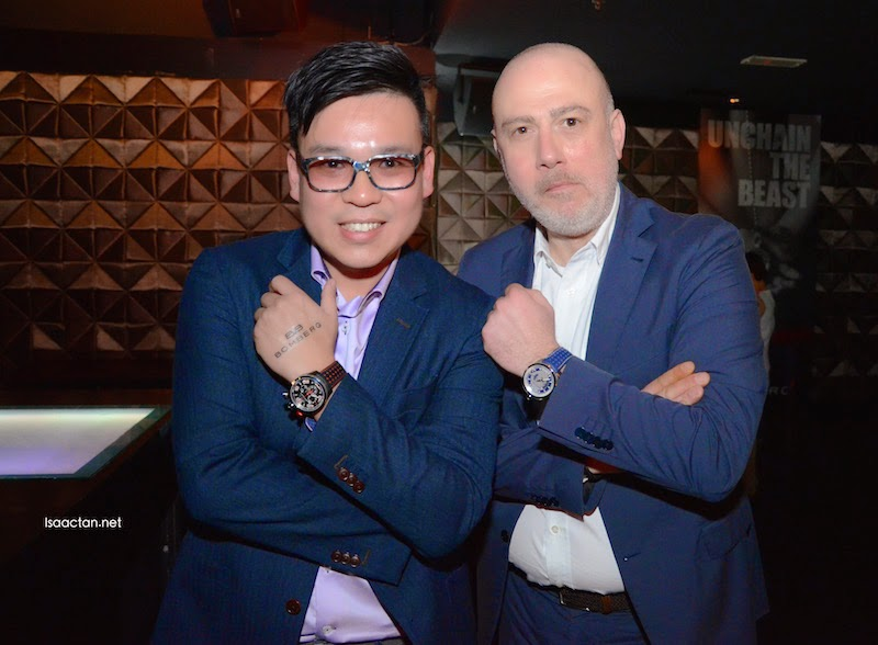 Watatime big boss, Brian Tham posing with BOMBERG CEO, Giancarlo Mantuano