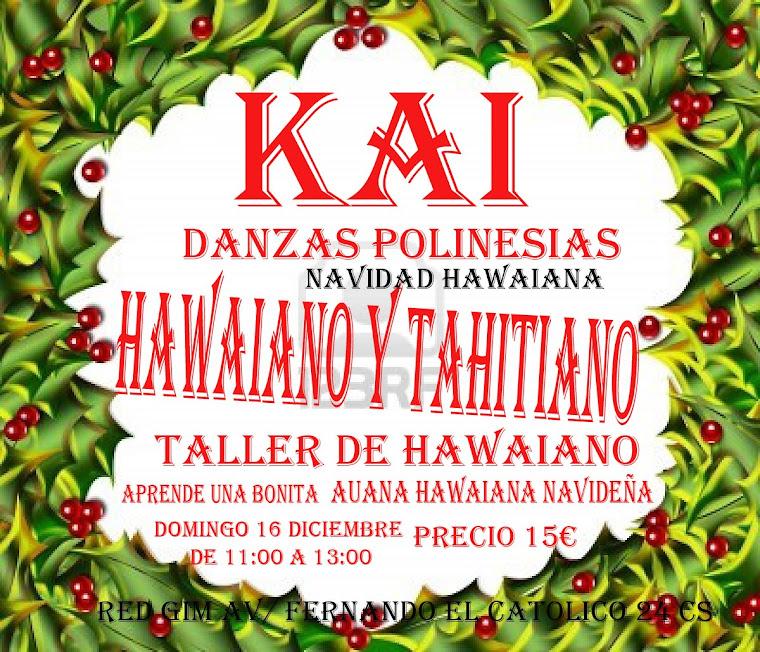 taller de danzas polinesias de navidad ,hawaiiano