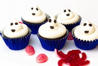 Cupcakes de Halloween con Fantasmas