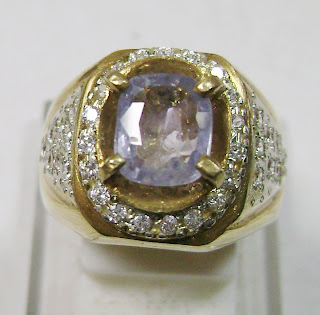 Cincin Batu Permata Blue Sapphire Ceylon