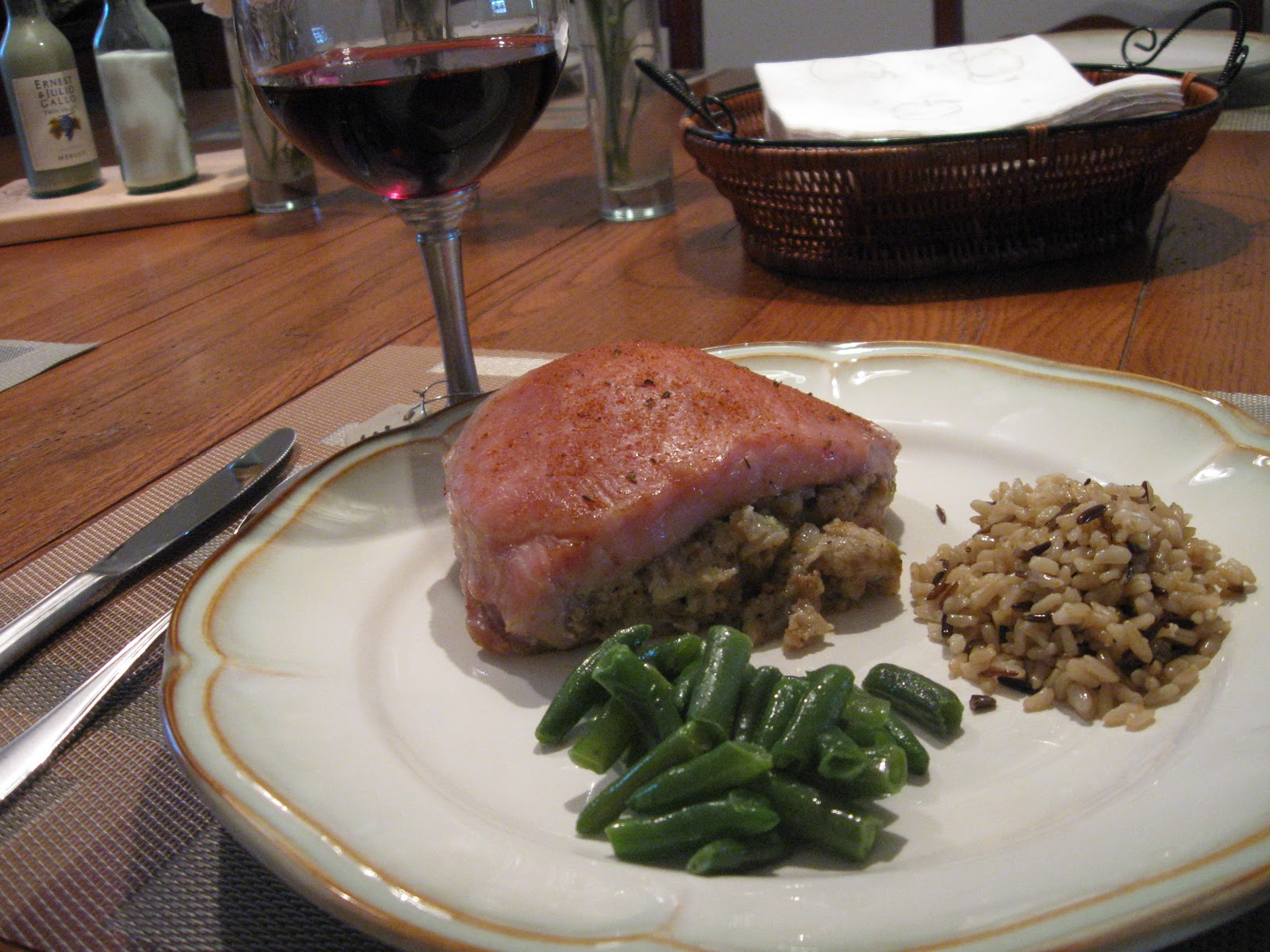 Just Cooking!: Stuffed Pork Chops on the Treager!
